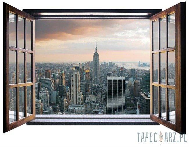 Fototapeta na flizelinie Empire State Building - Widok przez otwarte okno 824