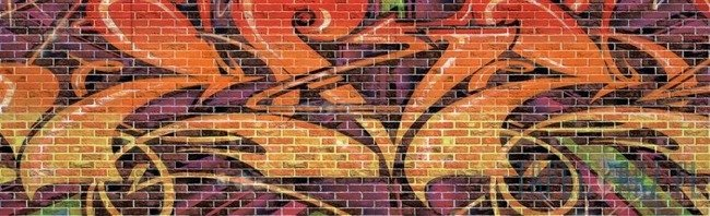 Fototapeta na flizelinie Grafitti na murze 789VEE