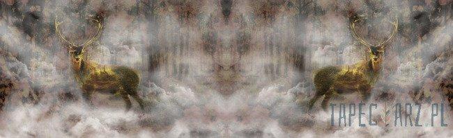 Fototapeta na flizelinie Jeleń w mglistym lesie 10145VEE