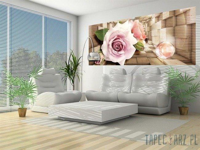 Fototapeta na flizelinie Róże w drewnianym korytarzu 3357VEP