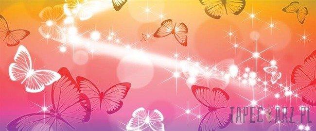 Fototapeta na flizelinie Tęczowe motylki 402VEP