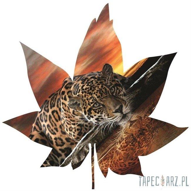 Fototapeta w kształcie liścia - Jaguar 902