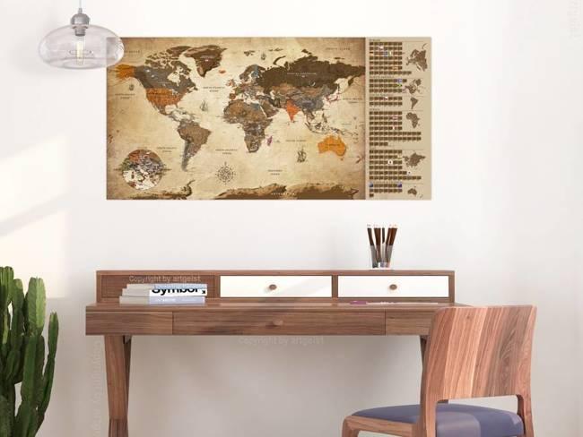 Mapa zdrapka - Mapa vintage - plakat (wersja angielska)