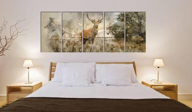 Obraz - Akwarelowy jeleń I