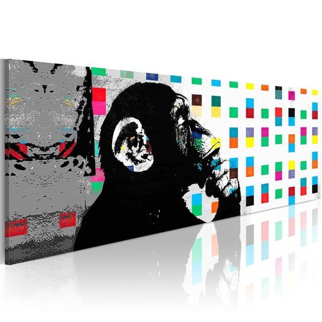 Obraz - Banksy: The Thinker Monkey