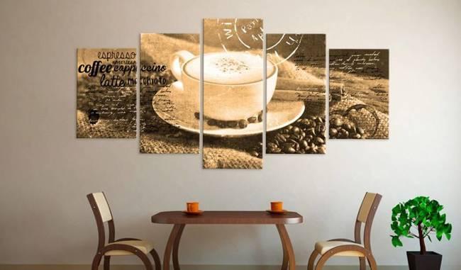Obraz - Coffe, Espresso, Cappuccino, Latte machiato ... - sepia
