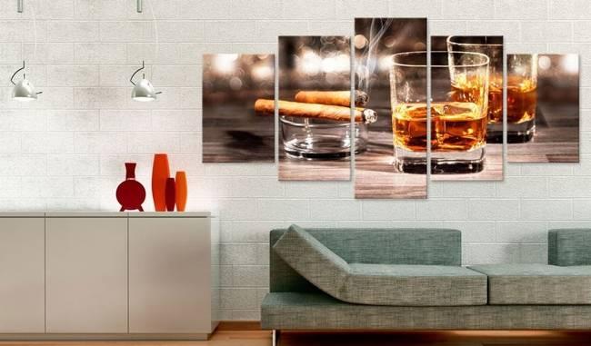 Obraz - Cygaro i whisky