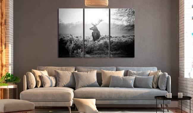 Obraz - Czarno-biały jeleń I