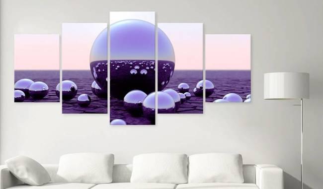 Obraz - Fioletowe kule