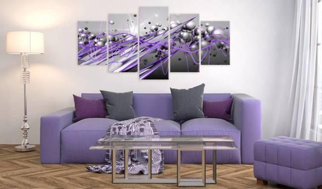 Obraz - Fioletowe uderzenie