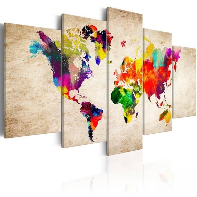 Obraz - Mapa świata: Abstrakcyjna fantazja