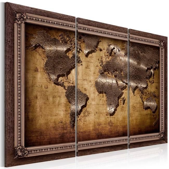 Obraz - Mapa w ramie