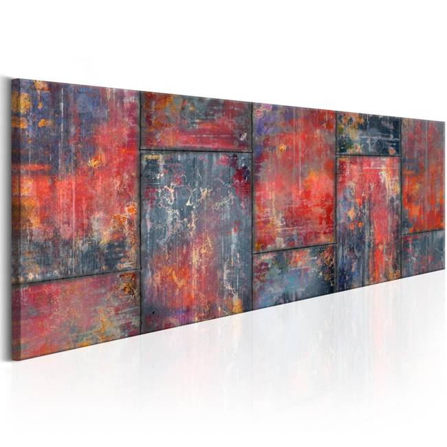 Obraz - Metalowa mozaika: Czerwony