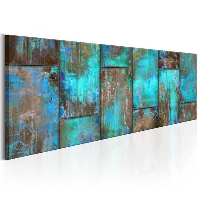 Obraz - Metalowa mozaika: Niebieski