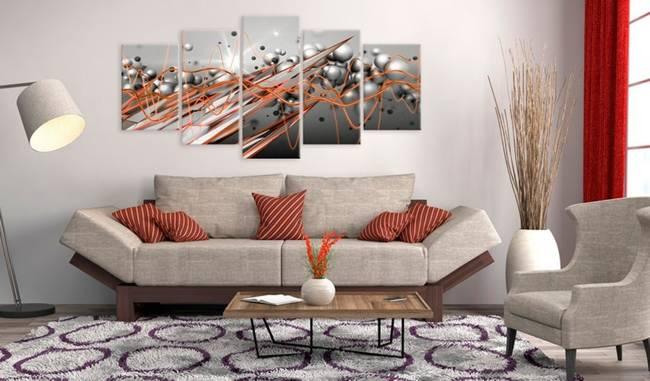 Obraz - Pomarańczowy strumień