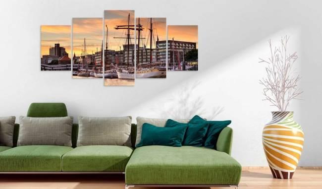 Obraz - Port w Hamburgu