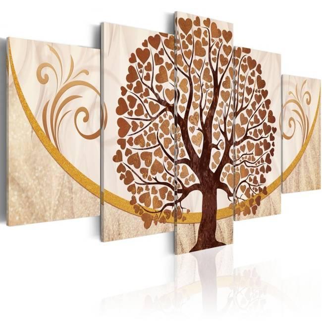 Obraz - Złote drzewo miłości