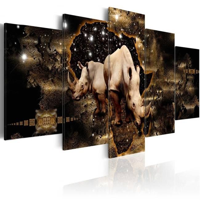 Obraz - Złoty nosorożec