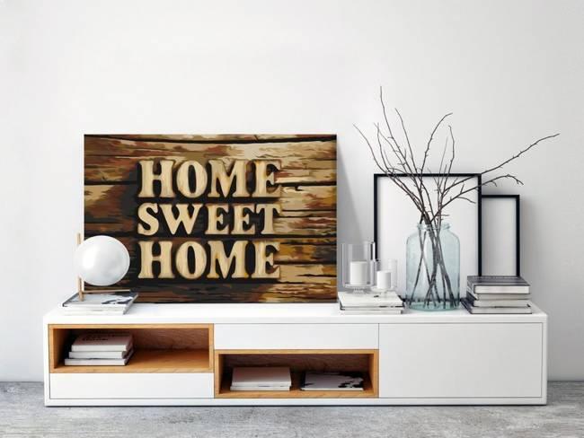 Obraz do samodzielnego malowania - Drewniane home