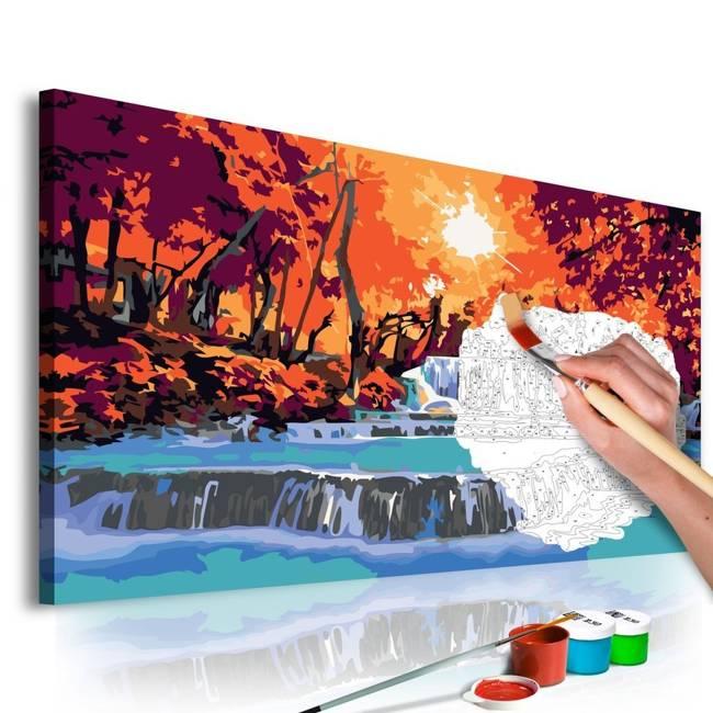 Obraz do samodzielnego malowania - Kaskada