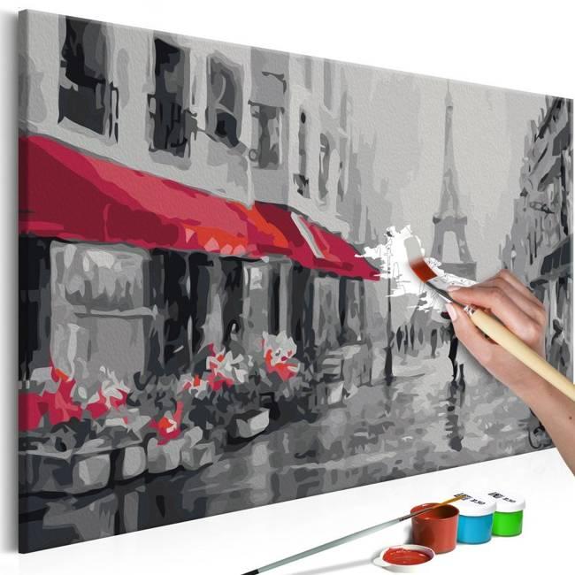 Obraz do samodzielnego malowania - Paryż skąpany w deszczu