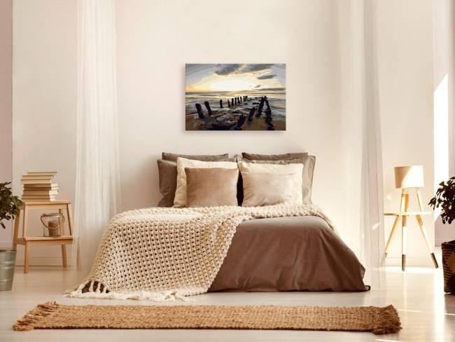 Obraz do samodzielnego malowania - Plaża (wschód słońca)