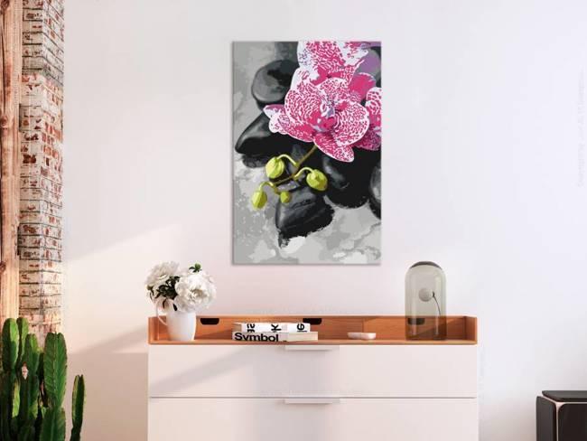 Obraz do samodzielnego malowania - Różowa orchidea