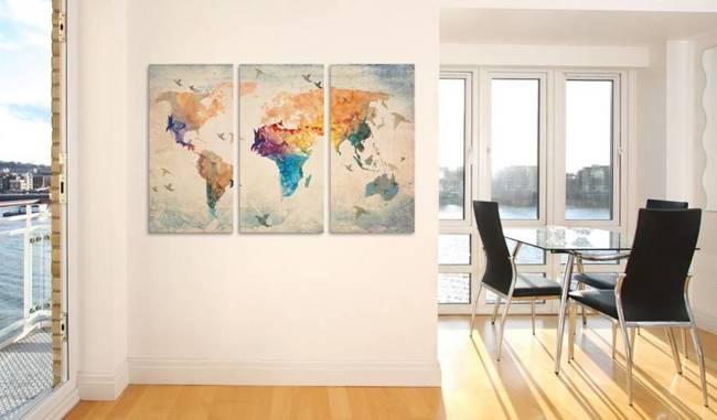 Obraz na korku - Wolni jak ptaki [Mapa korkowa]