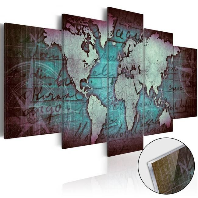 Obraz na szkle akrylowym - Plexi: Zielona mapa