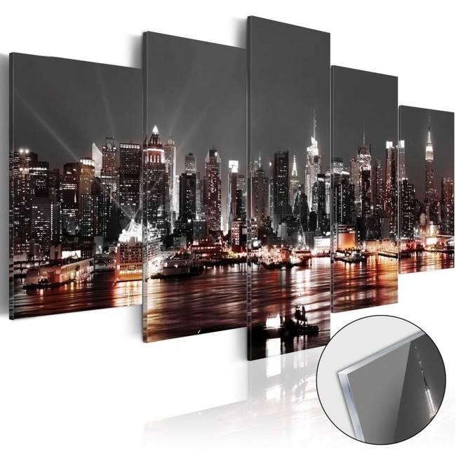 Obraz na szkle akrylowym - Szare miasto [Glass]