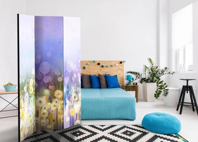 Parawan 3-częściowy - Malowana łąka [Room Dividers]
