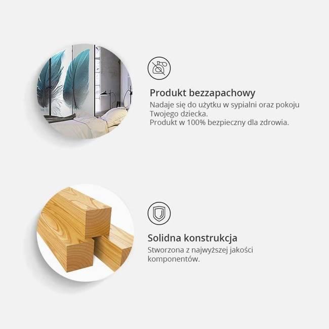 Parawan 3-częściowy - Subtelność [Room Dividers]