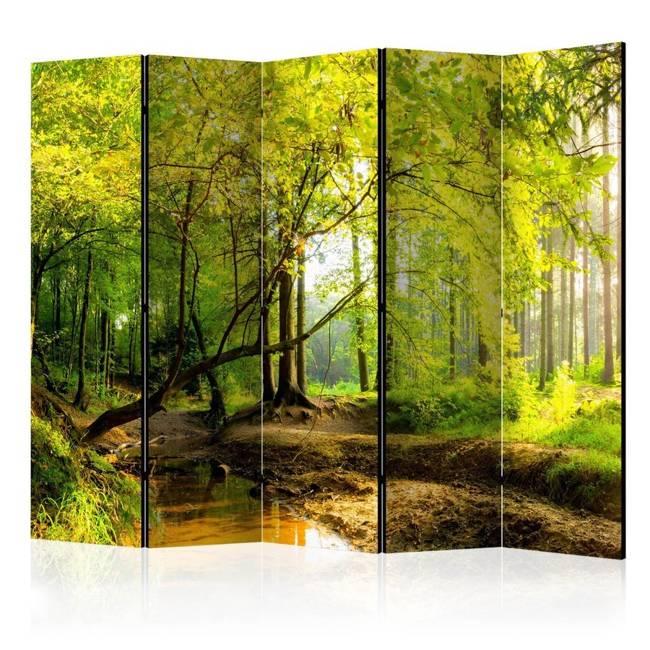Parawan 5-częściowy - Leśna polana II [Room Dividers]
