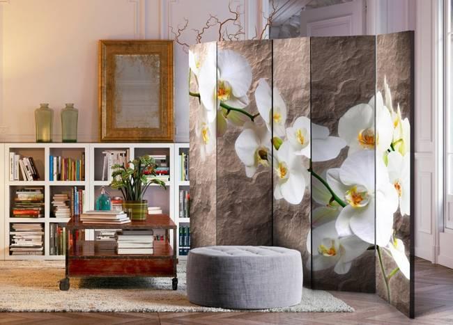 Parawan 5-częściowy - Nieskazitelność orchidei II [Room Dividers]