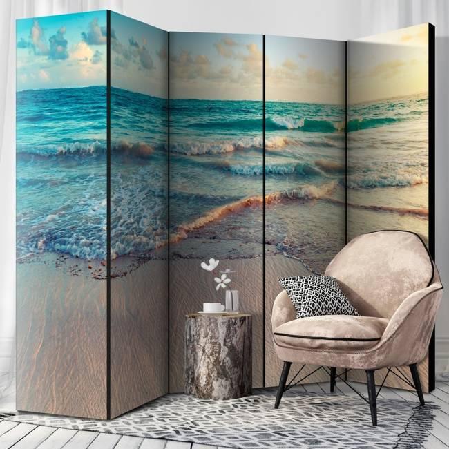 Parawan 5-częściowy - Plaża w Punta Cana II [Room Dividers]