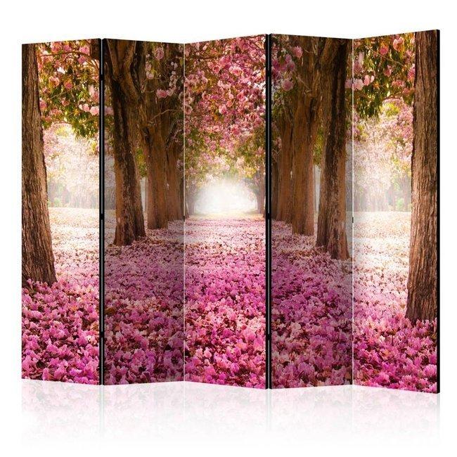 Parawan 5-częściowy - Różowy gaj II [Room Dividers]