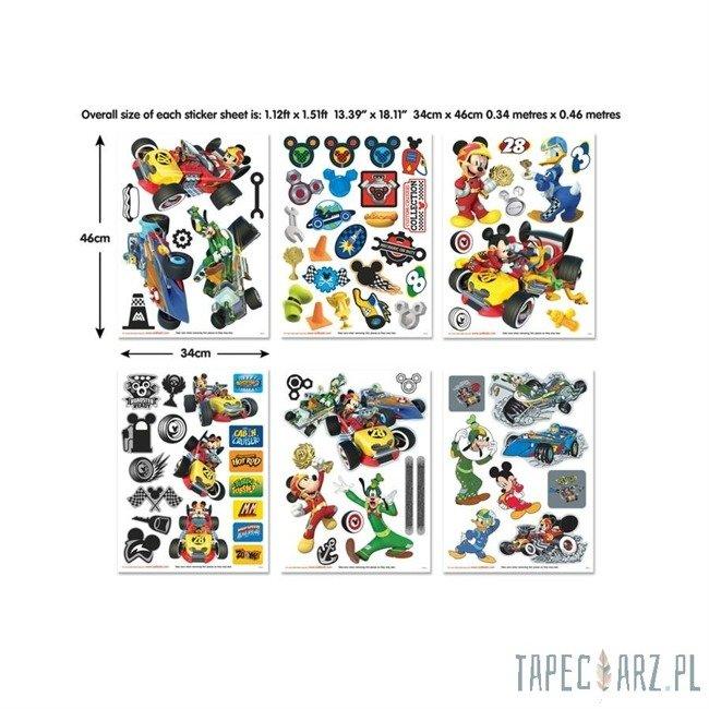 Zestaw do dekoracji pokoju Walltastic 45613 Disney Myszka Miki Roadster Racer