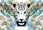Fototapeta Abstrakcja - tygrys 2186