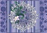 Fototapeta Ażurowy wzór na fioletowym tle 2526