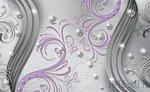 Fototapeta Diamentowy fioletowy wzór 2043
