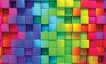 Fototapeta Kolorowe kwadraty 3700