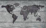 Fototapeta Mapa świata na betonie 2854