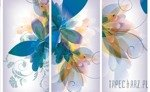 Fototapeta Motyw niebieskich kwiatów 549
