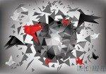 Fototapeta Origami - abstrakcja 2208