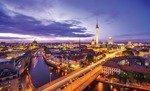 Fototapeta Panorama Berlina nocą 3372