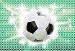 Fototapeta Piłka nożna na geometrycznym wzorze 477