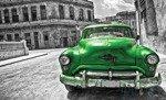 Fototapeta Zielony samochód - vintage 1180