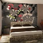 Fototapeta - motyw kwiatowy - szary
