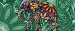 Fototapeta na flizelinie Kolorowy słoń 3262VEP