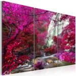 Obraz - Piękny Wodospad: Różowy las
